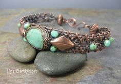 Tutorial: Woven Turquoise Bracelet by Jewelrygal | JewelryLessons.com
