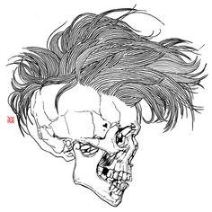skull, death, punk art, art prints, inspir, framed art, gao, art girl, illustr