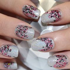 Beyond the Red Mani: 5 Festive Ideas for Nails - Deck your nails for the holiday season with these simple yet sparkly manicures, created by nail pro Jin Soon Choi