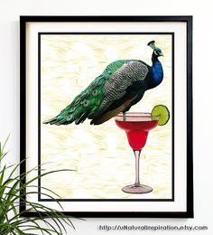 Peacock Art print by uNaturalInspiration, $18.99