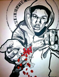 Trayvon Martin. Such a beautiful drawing.