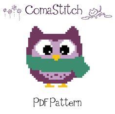 Winter Owl Cross Stitch Pattern, Free!