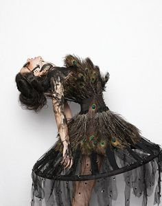 peacock feathers, bird, costum, dress fashion