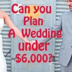 Plan a wedding on a budget