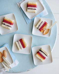 Striped Ice Cream Cake |by Martha Stewart