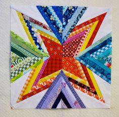 Free Quilting Pattern: Scrap Attack Block by Diane Bohn