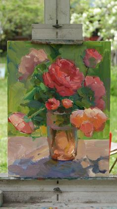 rose, oil paintings, shelli warren, painting art, color, ovan berberian, warren art, artist, flower