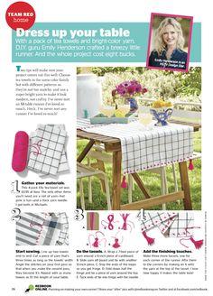 tablecloth DIY