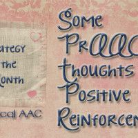 Some PrAACtical Thoughts on Positive Reinforcement