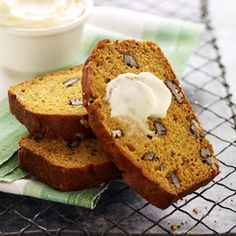 Mashed banana and toasted pecans add a new twist to this quintessential autumn quick bread.
