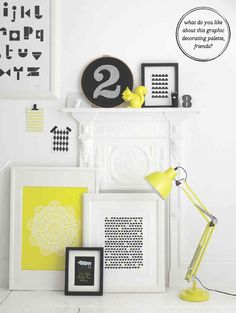 How To Decorate With Black and Yellow (Photography by Max Attenborough; Styling by Charlotte Love)