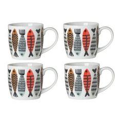 now designs fishies print mugs