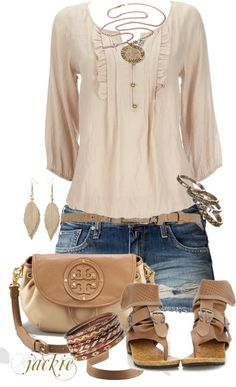 Casual Outfits | Chambray and Shorts - Fashionista trends