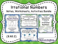 math rational irrational numbers on pinterest common core math eighth grade and common cores. Black Bedroom Furniture Sets. Home Design Ideas