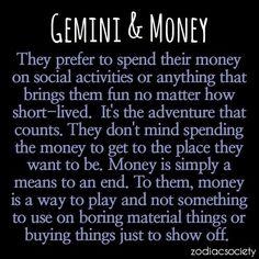 gemini horoscope quotes, gemini and gemini, quote gemini, spending money
