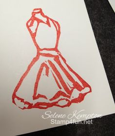Stampin' Up!  Undefined stamp set; Dress carved by Selene Kempton