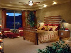 Sonora Vista Master Bedroom: Debra May Himes Interior Design: Scottsdale Arizona