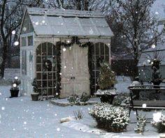 ... cottag, potting sheds, old windows, winter wonderland, christmas, gardens, door, greenhous, garden houses