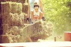 unloading hay bails, hard work.... Sooo many times
