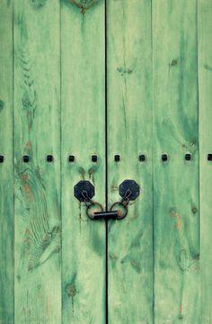 Korea Photography Hemlock Mint Green Cellar Door Old by NatureCity, $25.00