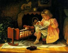 Greg Olsen - 'Little Girls Will Mothers Be'