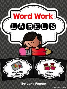 Word Work Labels. Just print, cut out, and laminate. Use the labels to help your students locate word work materials.