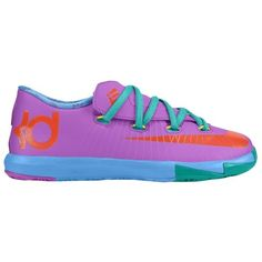 Purple Nike KD VI boys trainers. Harder to lose, ha.