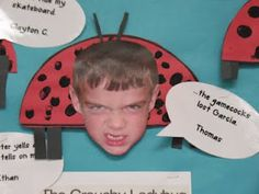 """The Grouchy Ladybug lesson with """"I'm grouchy when..."""" craft project"""