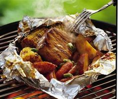 Grilled Honey BBQ Pork Packs Recipe by Betty Crocker Recipes on...