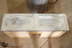 Vanity Makeover by The Wood Grain Cottage // pinned for the process.  Using Chalky Finish paint by DecoArt
