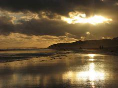 The beach at sunset, Necochea, Argentina
