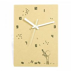 Wooden Creative Eco-friendly Icon Wall Clock