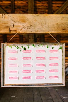 watercolor seating chart // photo by Julie Lim Photographer