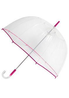 Un-teal the Clouds Clear Umbrella in Fuchsia | $20