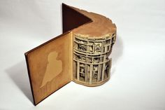 Art carved into books