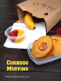 Gluten Free Corn Dog Muffins - Great for the kid's lunch kits or after school snacks. | the Baking Beauties