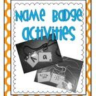Name Badge/Partner Games!!  Freebie!
