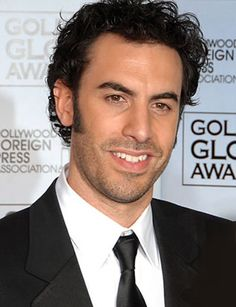 Sacha Baron Cohen, English stand-up comedian, writer, actor, and voice actor.