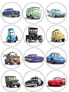 """Single Source Party Supply - 2.5"""" Cars (McQueen) Cupcake Edible Icing Image Toppers mcqueen cupcake, cupcak topper, cupcakes, car parti, car mcqueen, car cupcak, decorations, car topper, cupcake toppers"""