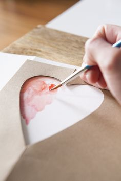 DIY Watercolour and Calligraphy Birthday Card - check out the gorgeous calligraphy INSIDE the card.