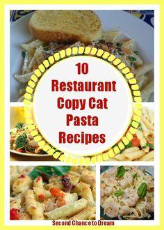 10 restaurant copycat pasta recipes
