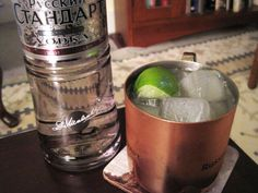 Moscow Mule - 1/2 a lime • ice • 2 ounces vodka • 4 to 6 ounces chilled ginger beer - Squeeze lime into a Collins glass (or copper mug, if you've got one) and drop in the spent lime shell. Fill glass with ice and add vodka; top with chilled ginger beer to taste.