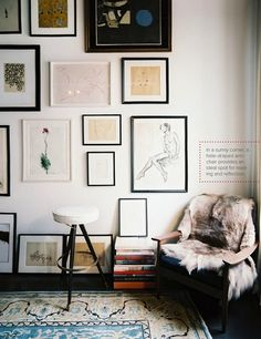 Love the way the art is positioned on the wall.