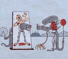 When ALIENS Go To A Theme Park LOL funny