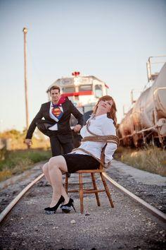 What a fun engagement photo idea!
