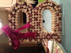 DIY letter made from wine corks