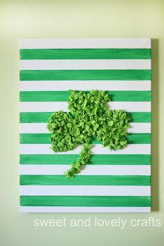 Tissue Paper Shamrock Art