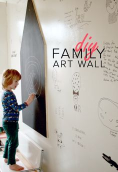 DIY Family Art Wall #kids #decor