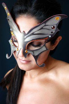 Butterfly Mask Gold Bronze classic patterns by HypnozoDesign. , via Etsy.