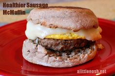 Healthy Sausage McMuffin | alittlenosh.net - This is a great make-ahead breakfast that freezes really well. Set up an assembly line and make a bunch at once. They taste better AND are better for you than the McDonald's version.